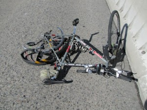 Frank Pavlick's Bicycle After Being Hit By Attempted Hit & Run Driver