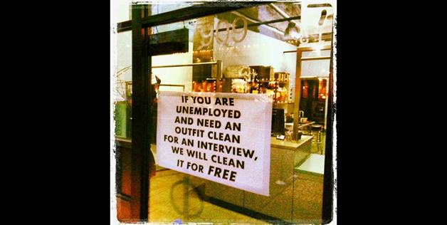 A dry cleaner that will give free washes for interviews (i3rodie via Instagram)
